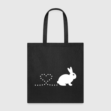 Pooping Heart Rabbit - Tote Bag
