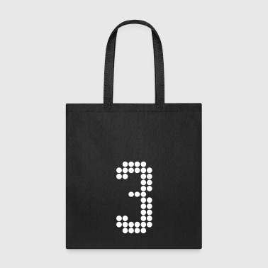 3, Numbers, Football Numbers, Jersey Numbers - Tote Bag