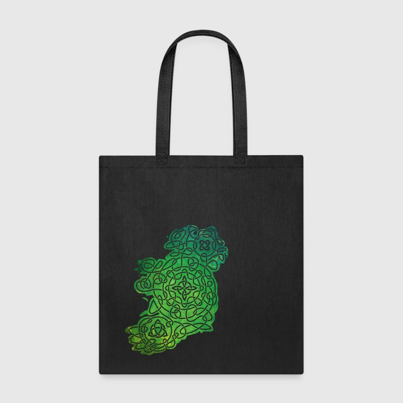 Celtic Map of Ireland - Tote Bag