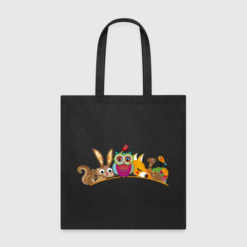 eight forest animals - Tote Bag