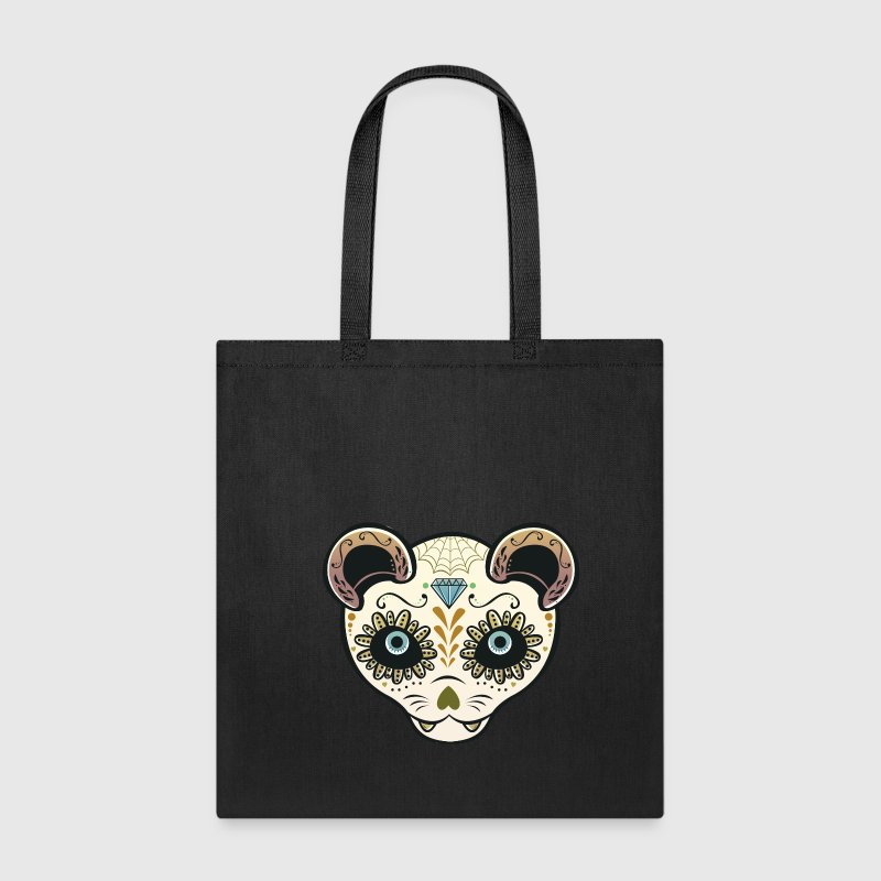 Halloween Sugar Skull Ferret Yellow - Tote Bag