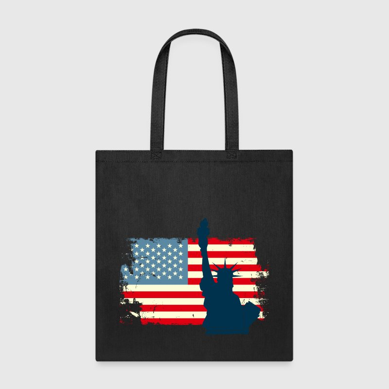 Liberty Statue USA Flag - Tote Bag