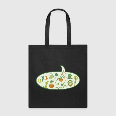 Saint Patrick's Day Speech Balloon - Tote Bag