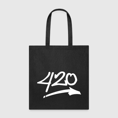 420 Cannabis white - Tote Bag
