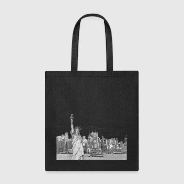 Statue Of Liberty New York Skyline - Tote Bag