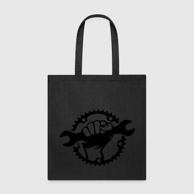 Bike Hero chainring bicycle bike cycling spanner - Tote Bag