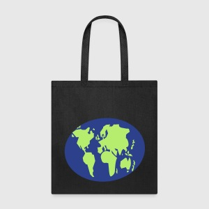 Simple simple world map globe by jazzydesignz spreadshirt tote bag gumiabroncs Image collections