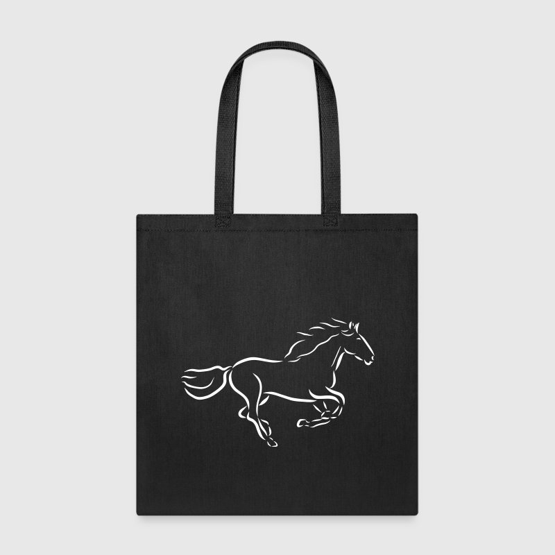gallopping horse stallion Mare drawing stud ride - Tote Bag