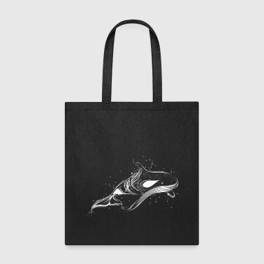 A killer whale in the ocean - Tote Bag