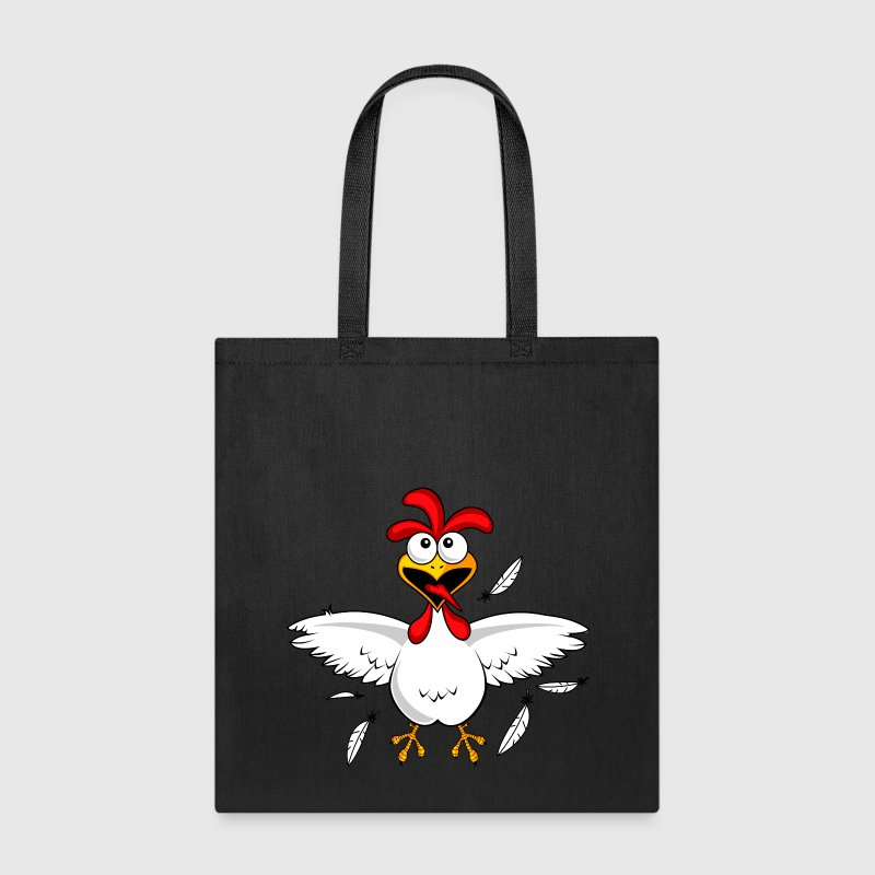 Funny Cartoon Chicken - Tote Bag