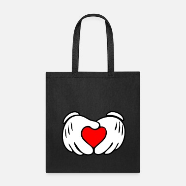 Mouse Mickey heart hands - Tote Bag
