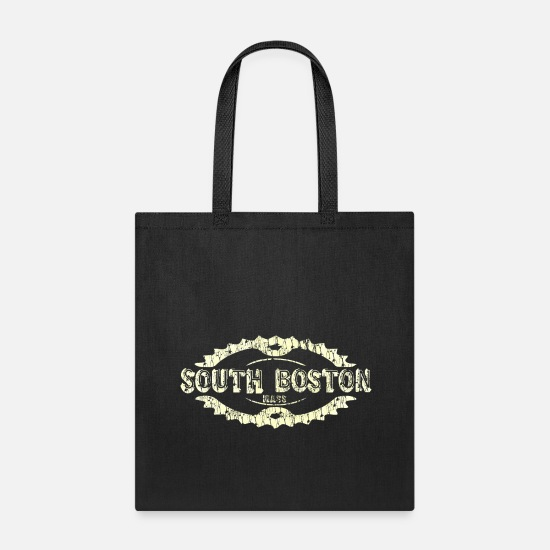 Boston Apparel Bags & Backpacks - South Boston Southie Mass Logo Design Neighborhood - Tote Bag black