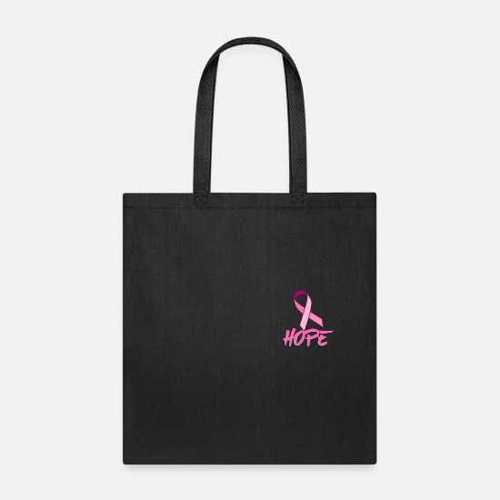 Cancer Bags & Backpacks - HOPE (PINK RIBBON) - Tote Bag black