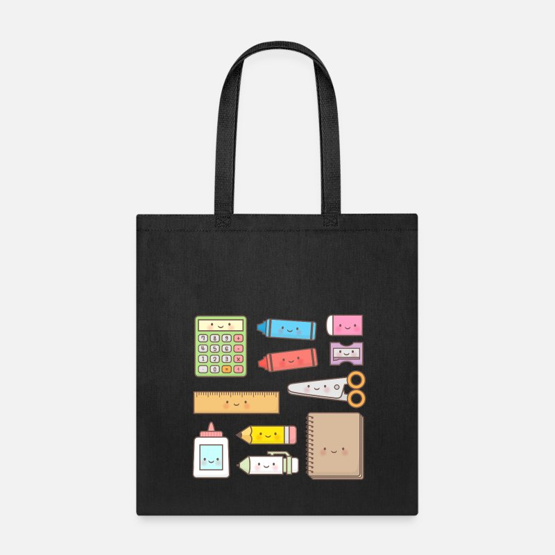 To Bags & backpacks - Kawaii School Supplies - Tote Bag black
