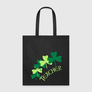 Teacher Shamrocks  - Tote Bag