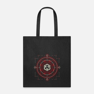 Red Dragon D20 Dice of Doom Minimalist Red Tabletop RPG - Tote Bag