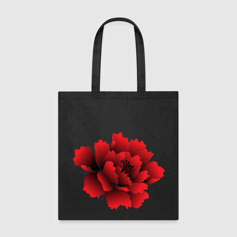 Red Peony Flower - Tote Bag