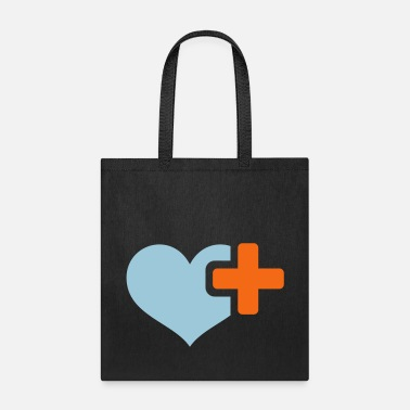Plus heart plus - Tote Bag