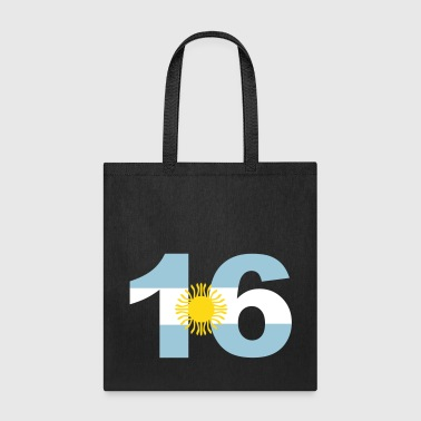 Argentinia Numbers, 16, Jersey Numbers Argentinia - Tote Bag