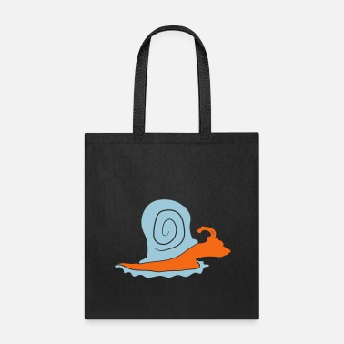 Snail-shell colorful silhouette snail slimy small snail shell - Tote Bag
