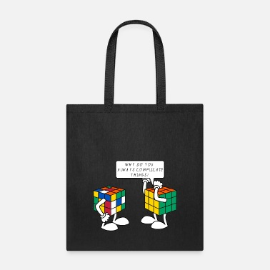 Rubik's Cube Formula Theory Of Relativity Blue - Tote Bag