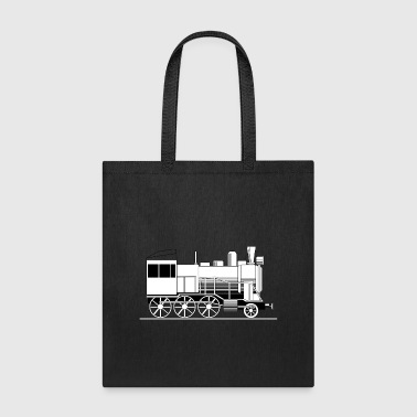 Steam Engine eisenbahn zug tram train railroad railway locomoti - Tote Bag