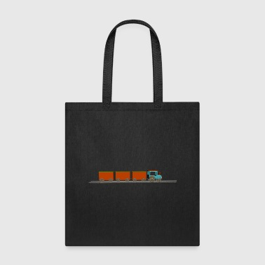 Freight Train eisenbahn zug tram train railroad railway locomoti - Tote Bag