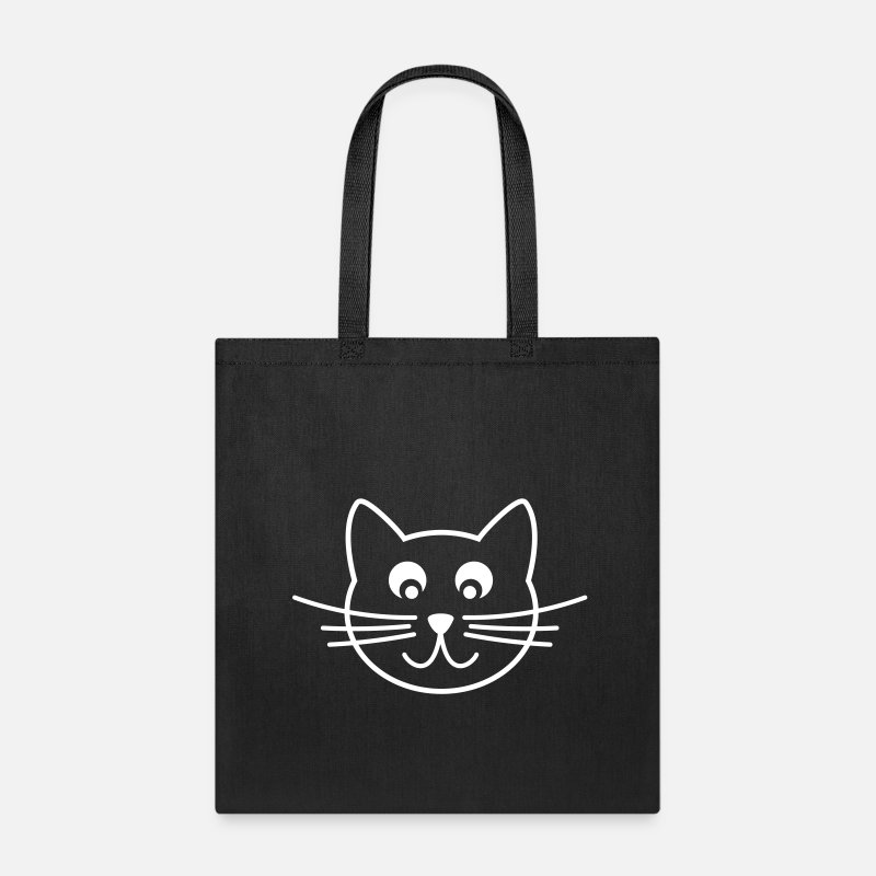 Animal Bags & backpacks - cat outline - Tote Bag black