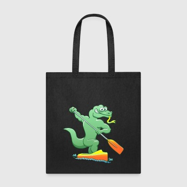 Water Monitor Competing in a Canoe Sprint Event - Tote Bag