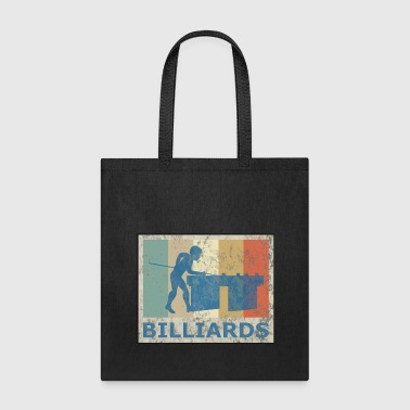 Retro Vintage Style Pool Billiard Player Snooker - Tote Bag