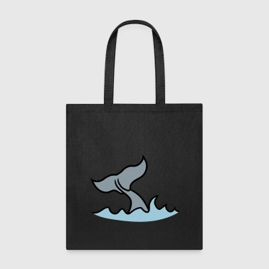 waves fin gray whale blue whale pot whale humpback - Tote Bag