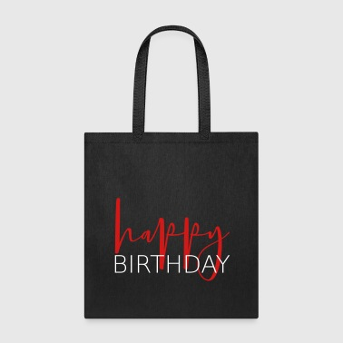 Handwriting happy birthday - Tote Bag