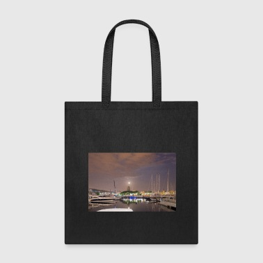 Harbour Barcelona harbour at night - Tote Bag