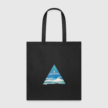 Sailboat out at sea. - Tote Bag