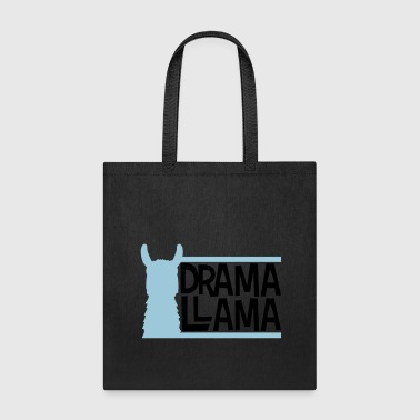 blue bars text logo drama llama party cool celebra - Tote Bag