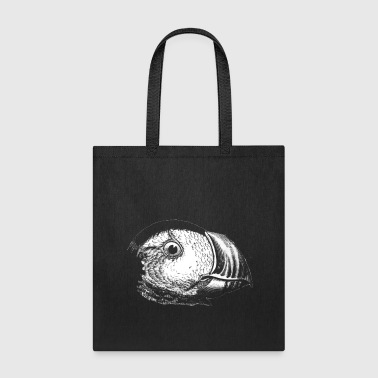 Seabird Funny Puffin - Short Neck Colorful Bill Seafowl - Tote Bag
