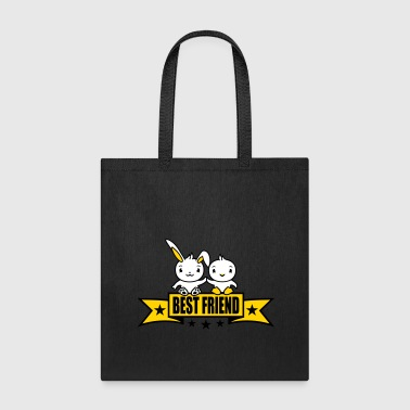 chicken chick bunny rabbit bird banner stars line - Tote Bag