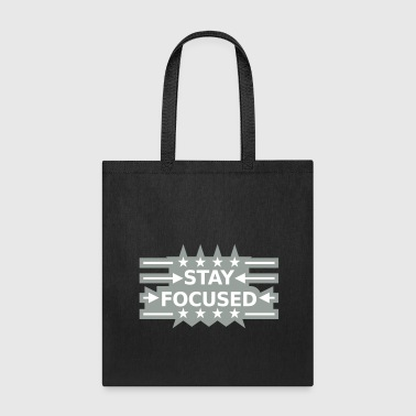 frame design stars arrows stay focused king crown - Tote Bag