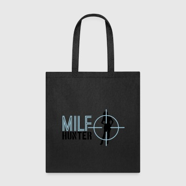 text milf hunter aim sight sniper telescope shoot - Tote Bag