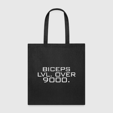 biceps lvl over 9000 - Tote Bag