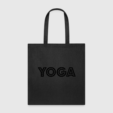 Geometry yoga wording - Tote Bag
