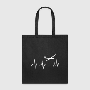 Heartbeat Sailplane Glider Gliding Flying - Tote Bag