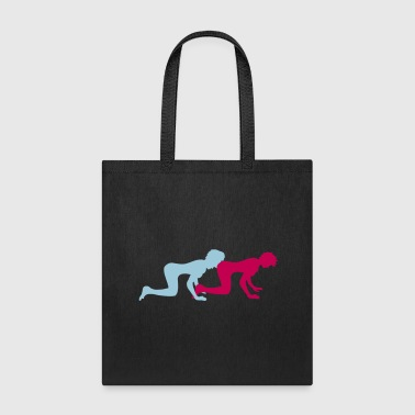lesbians gay licking eat ass 2 girlfriends team co - Tote Bag