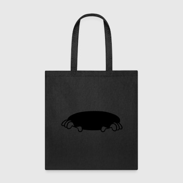 hole ground hide comic cartoon clip art hold on lu - Tote Bag