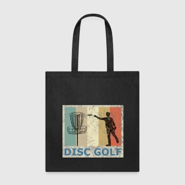 Vintage Retro Grunge Style Disc Golf Frisbee - Tote Bag