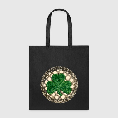 Beige Celtic Knots And Shamrock - Tote Bag