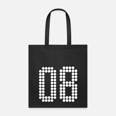 Number 08, Numbers, Football Numbers, Jersey Numbers - Tote Bag