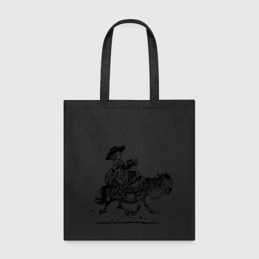 Thelwell Two Cowboys With Their Horse - Tote Bag