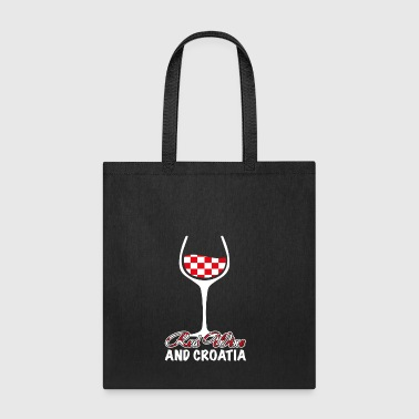 red wine and croatia - Tote Bag
