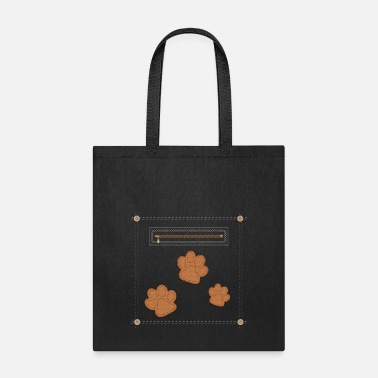 Paw Print Leather Paw Print - Tote Bag